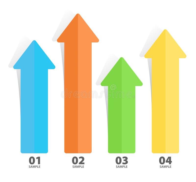 Arrow Chart Diagram. Arrow infographic diagram chart illustration royalty free illustration