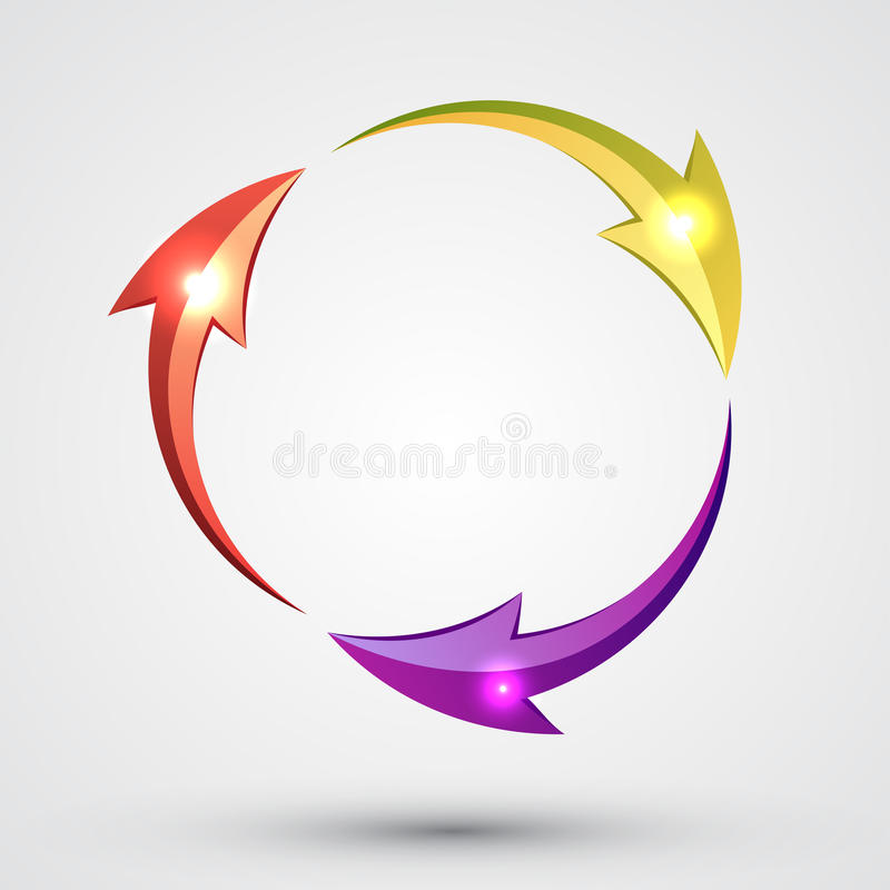 Arrow Circle - Cycle. Abstract logo vector illustration