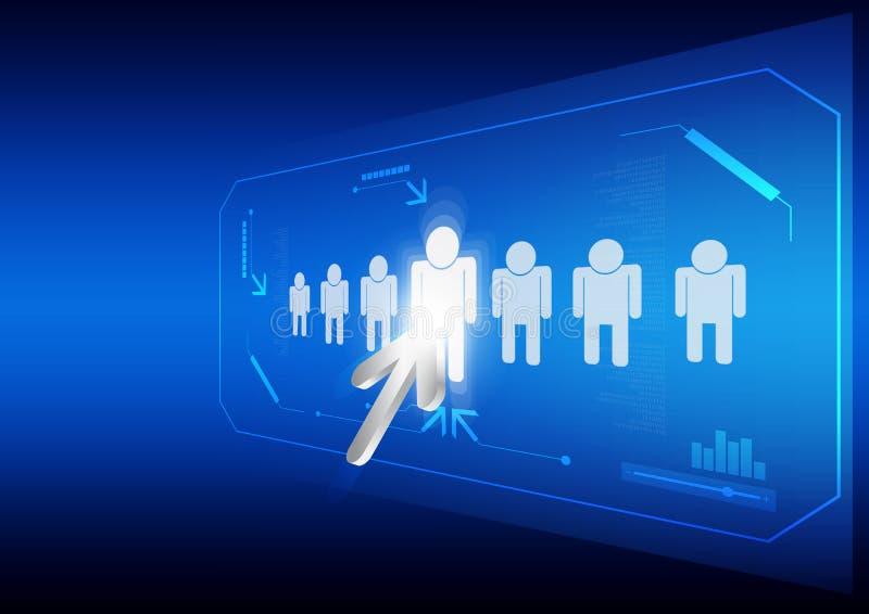 Download Arrow click human icon stock vector. Image of multimedia - 26450144