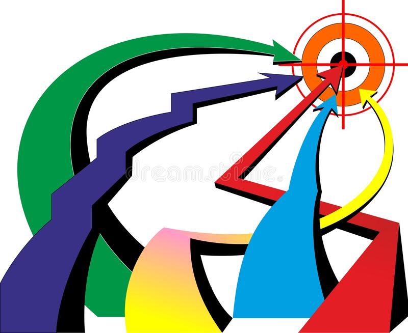 Arrow Color Goal vector illustration
