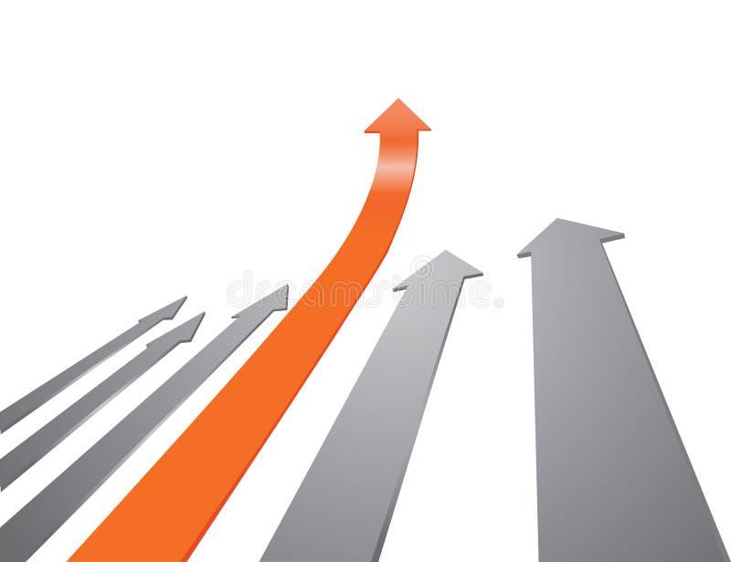 Arrow competition stock illustration