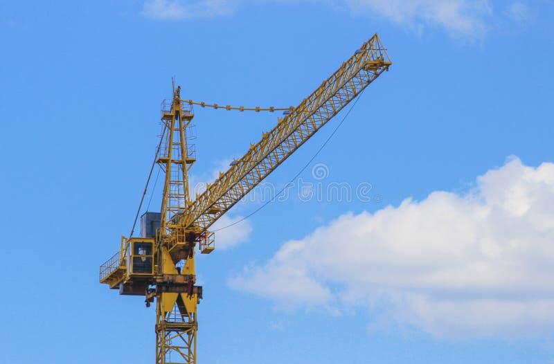 Arrow construction tower crane stock photography
