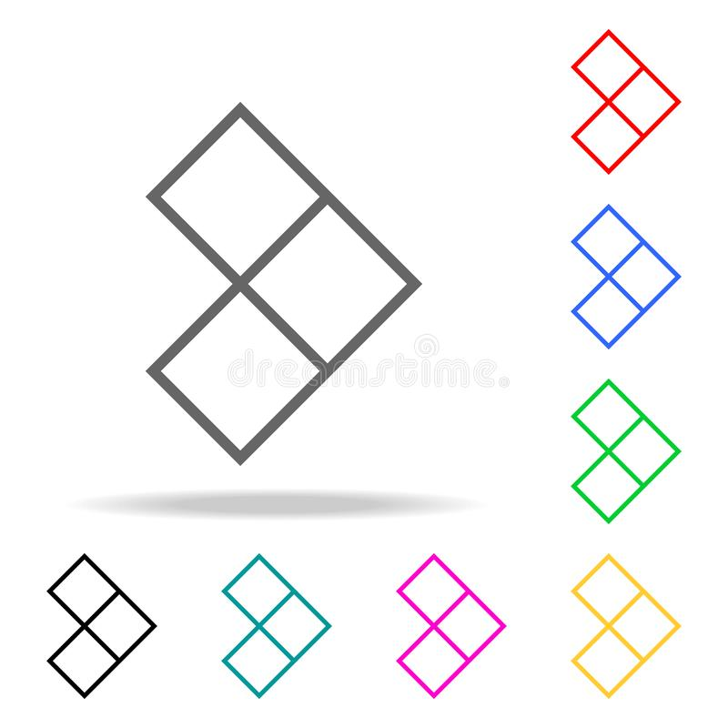 Arrow cubes icons. Elements of human web colored icons. Premium quality graphic design icon. Simple icon for websites, web design, royalty free illustration
