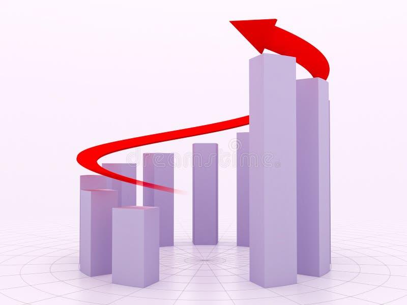 Arrow diagram. Increase diagram with an arrow stock illustration