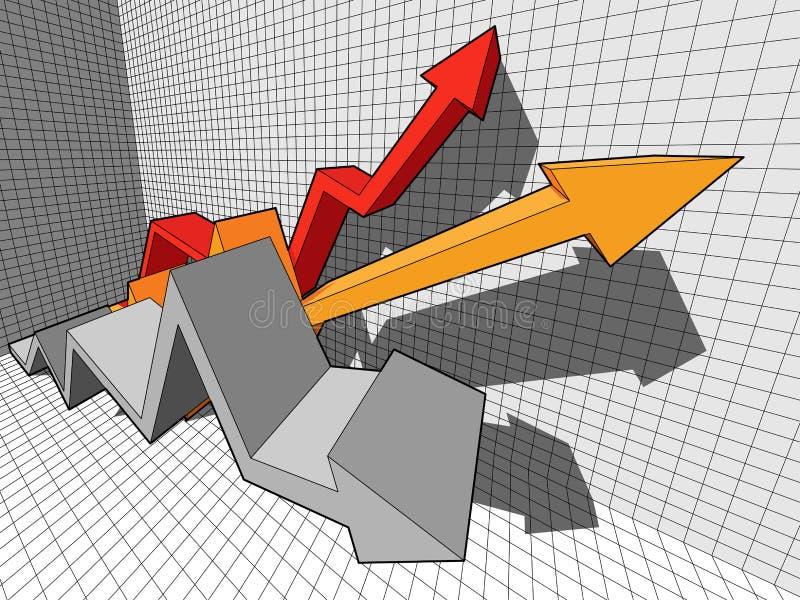 Arrow diagram stock illustration