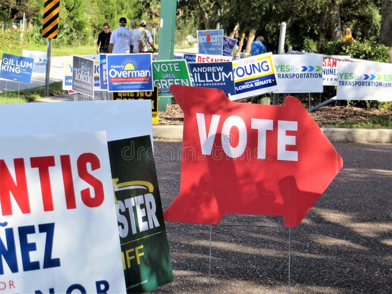 Vote sign, Florida stock photos