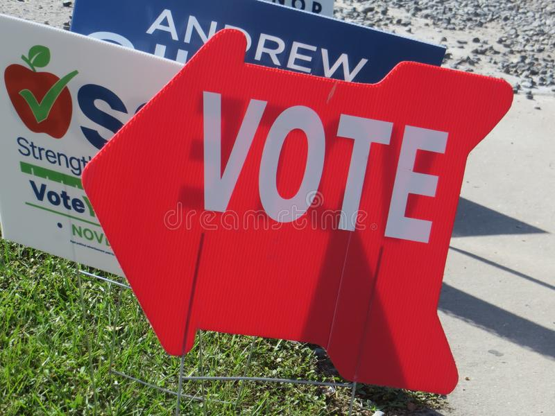 Vote sign, Florida royalty free stock photo