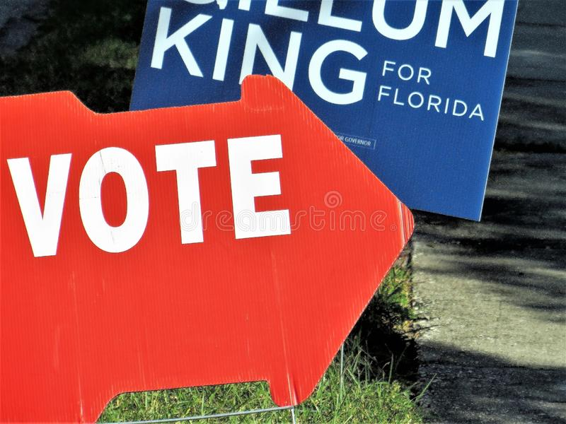 Vote sign, Florida royalty free stock images