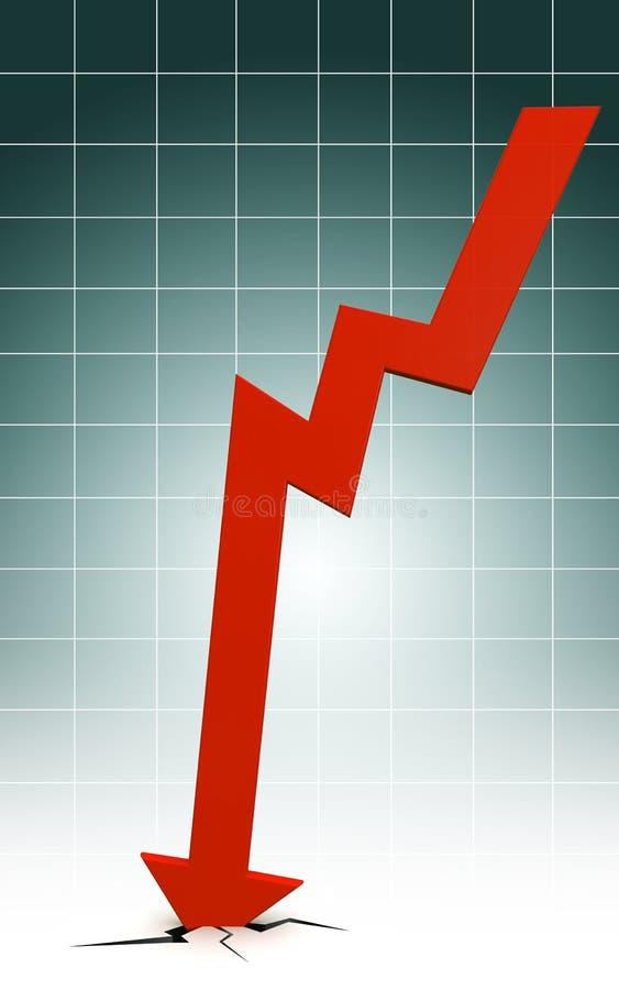 Arrow Fall Down Crash The Floor Stock Photos