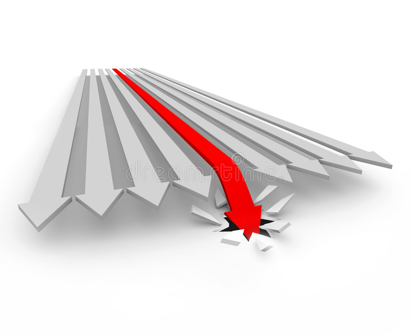 Download Arrow Falls Through The Floor Stock Illustration - Image: 7821739