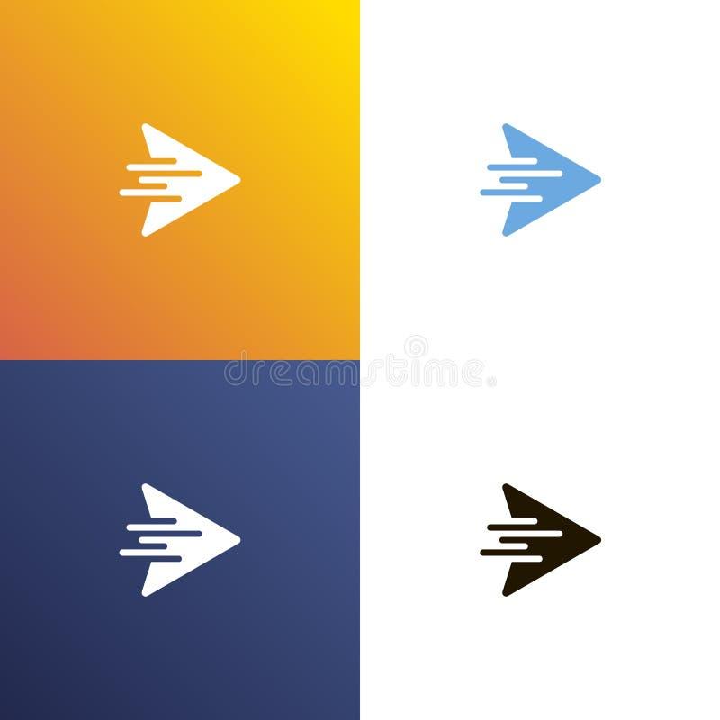 Arrow fast design logo. Arrows icon isolated. Vector stock illustration