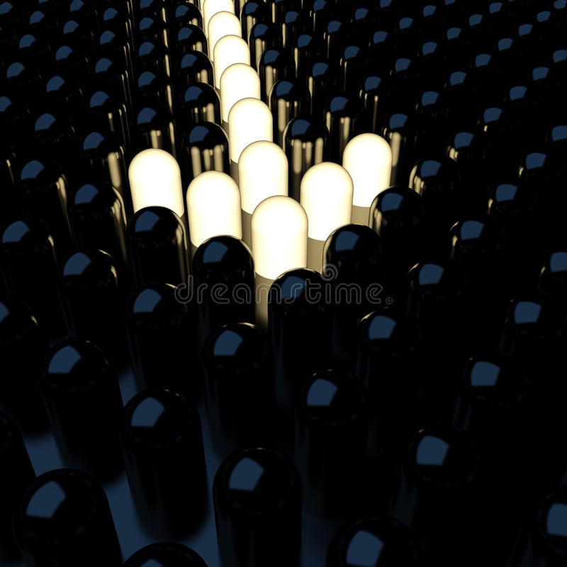 Free Arrow From Luminous Diodes Stock Image - 21408471