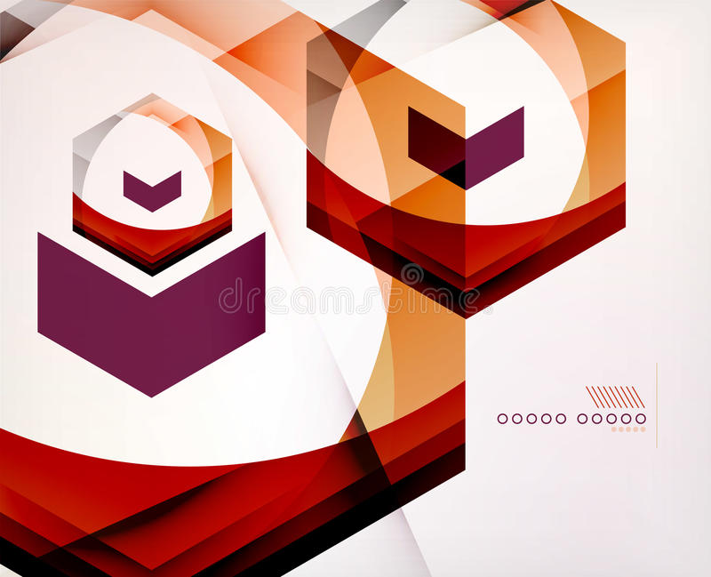 Arrow Geometric Shape Abstract Business Background. Graphic Design Template royalty free illustration