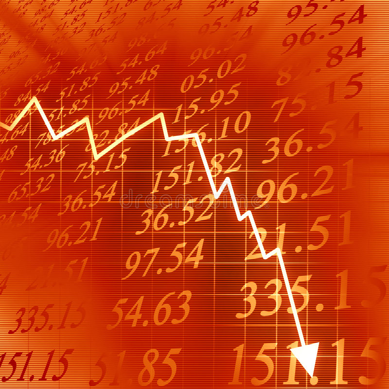 Download Arrow graph going down stock illustration. Image of rates - 7186796