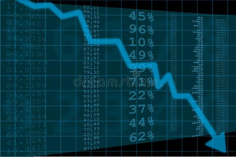 Arrow graph going down stock illustration