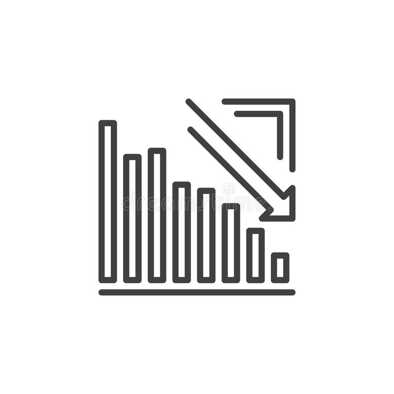 Arrow graph going down line icon outline vector sign linear arrow graph going down line icon outline vector sign linear pictogram isolated on white crisis symbol logo illustration ccuart Image collections
