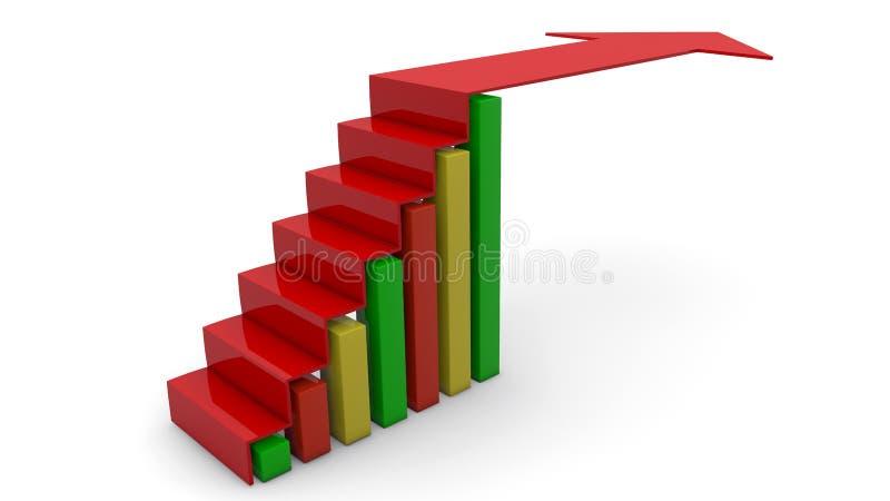 Download Arrow graph going up stock illustration. Illustration of economics - 28711000