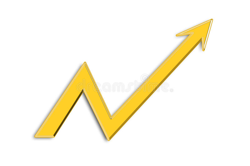 Arrow Graph Royalty Free Stock Image