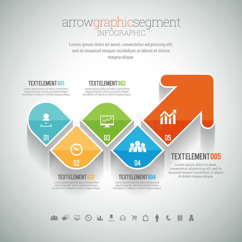 Arrow Graphic Segment Infographic. Vector illustration of arrow graphic segment infographic element royalty free illustration