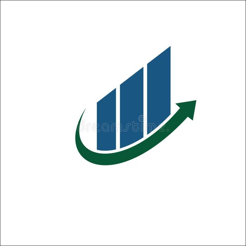 Arrow growth logo vector design financial. On white background stock illustration
