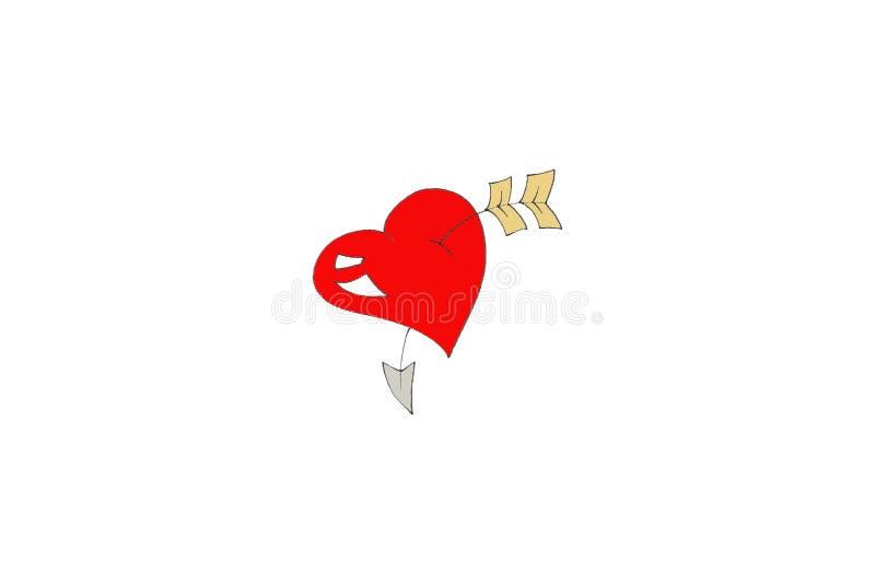 Arrow Through The Heart Free Stock Image