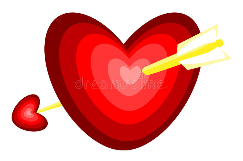 Arrow through Heart royalty free stock photography
