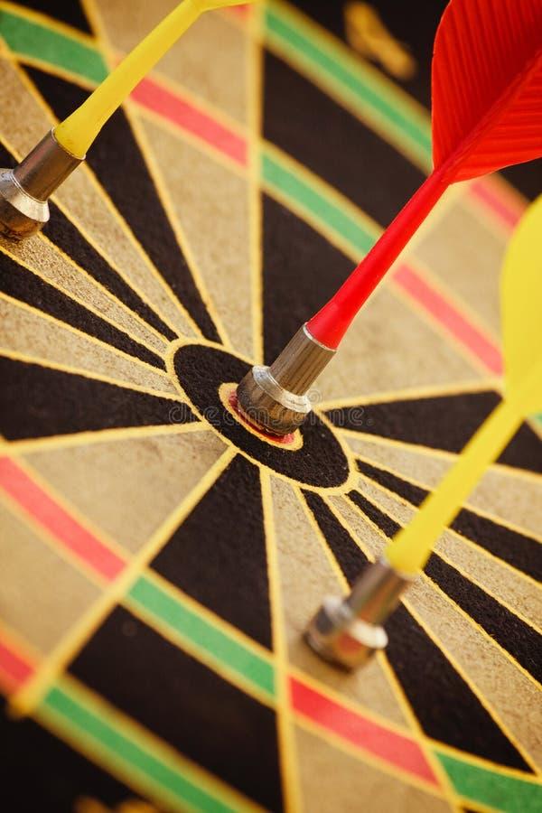 Download Arrow Hit Black And Yellow Bullseye Stock Image - Image: 36629969