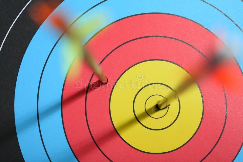 Download Arrow hit target stock photo. Image of arrow, aiming - 26844906