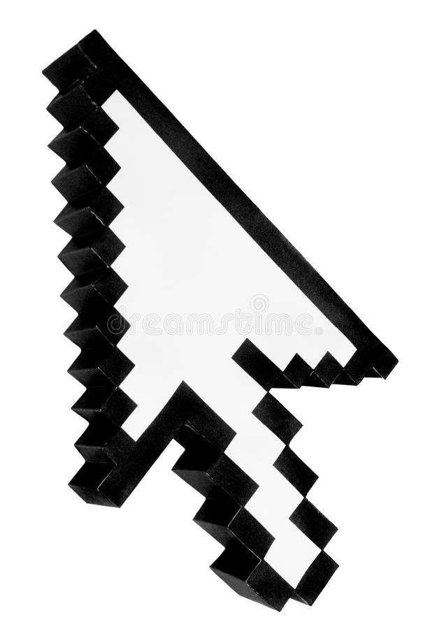 Arrow Icon. Arrow from a computer icon made in papercraft royalty free stock image