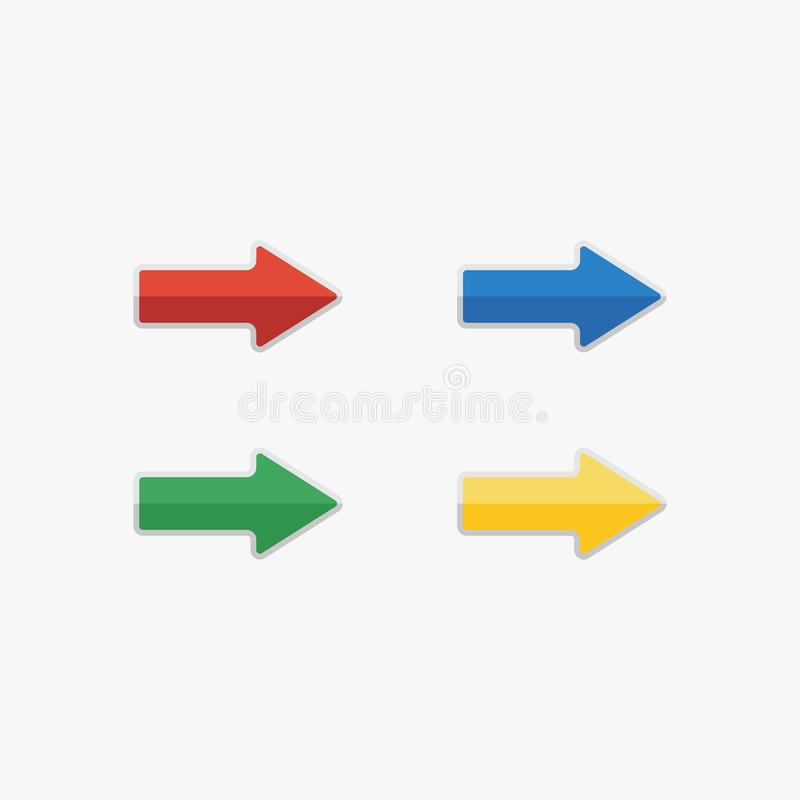 Arrow icon design, set of Arrow icon design stock image