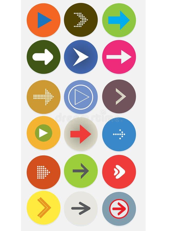 Download Arrow icon stock illustration. Illustration of badge - 43807472