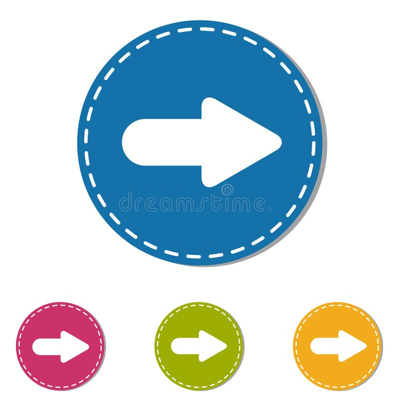 Arrow Icon Next Button - Colorful Vector Illustration - Isolated On White Background vector illustration