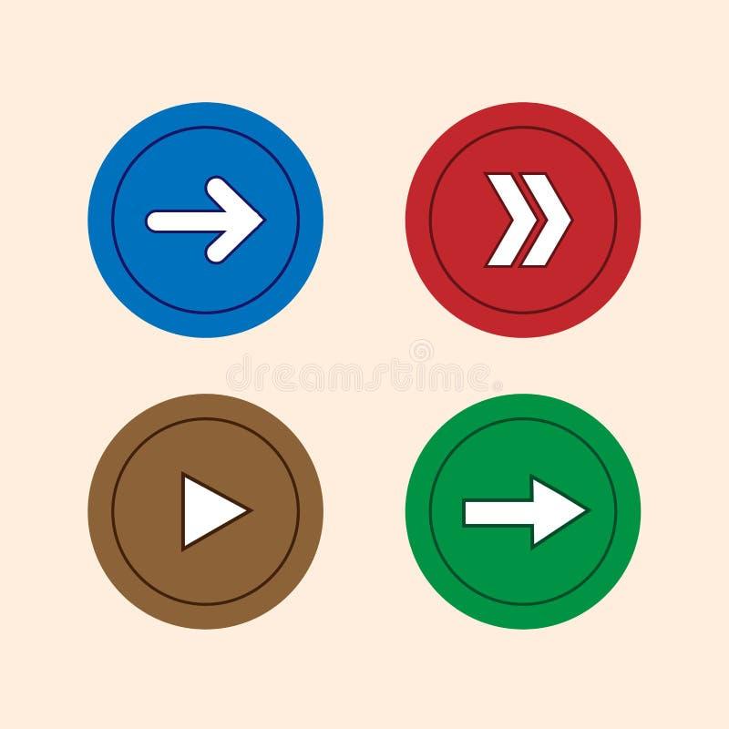 Arrow icon set vector royalty free illustration