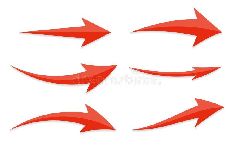 Arrow Icon Sign Set. Vector Illustration. stock illustration