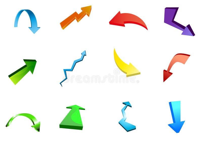 Arrow icon vectors