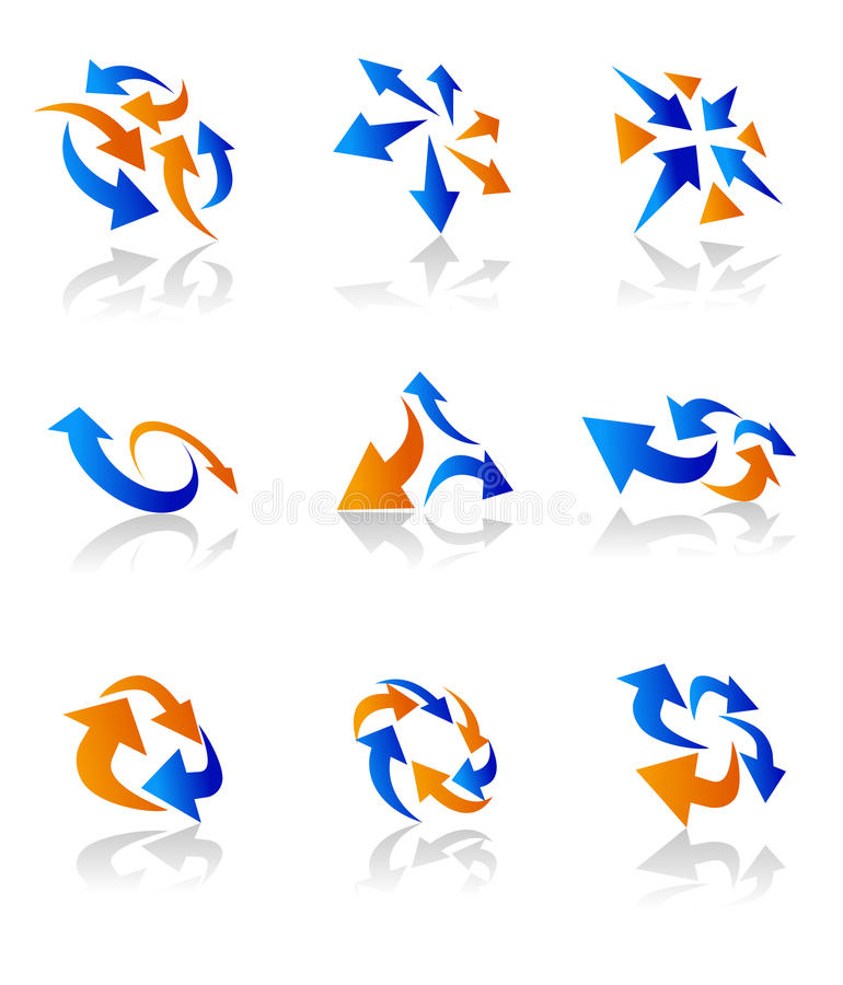 Download Arrow icons stock vector. Image of moving, object, message - 18684226
