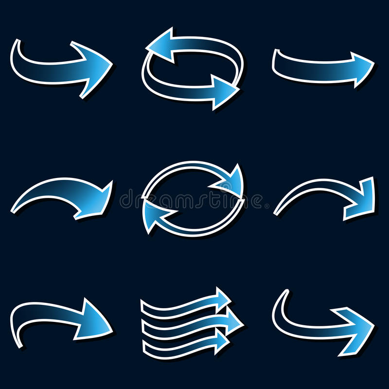 Download Arrow icons. stock vector. Image of arrow, blue, direction - 24638574