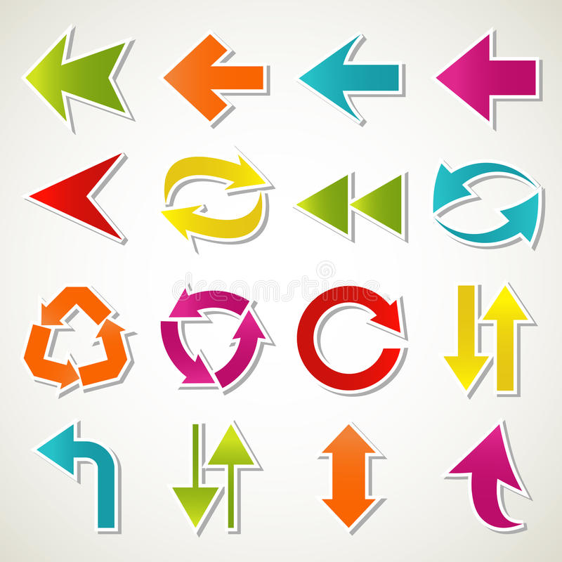 Download Arrow icons stock vector. Image of element, blue, global - 24638651