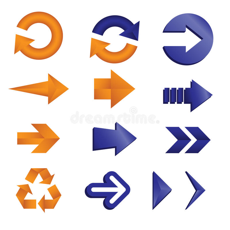 Arrow icons. A vector illustration of different arrow icons vector illustration