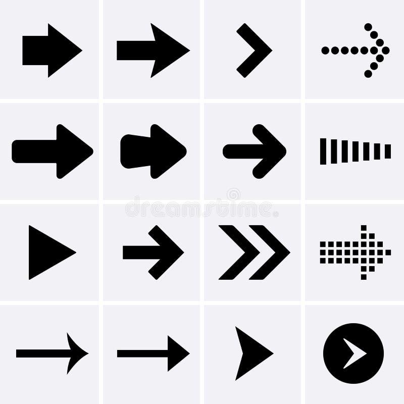 Arrow Icons. royalty free illustration