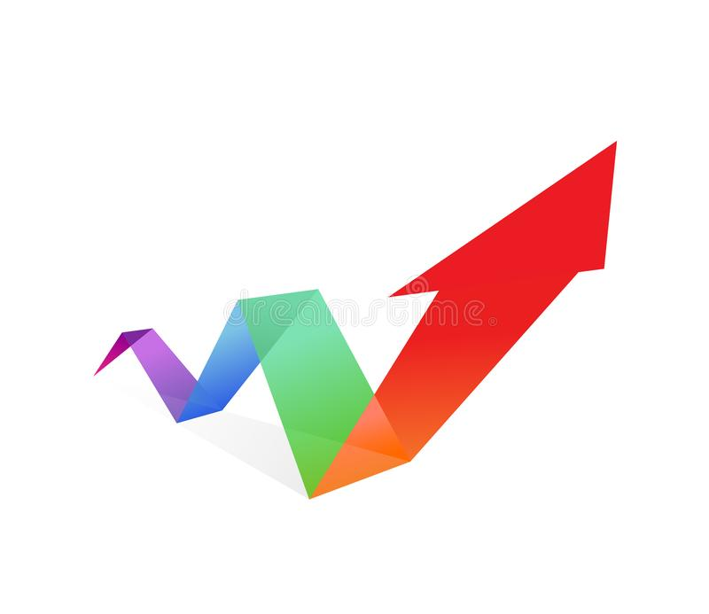 Arrow illustration. Vector. Rising prices, currencies and inflation. The game on the stock exchange. Icon, logo for a financial company vector illustration