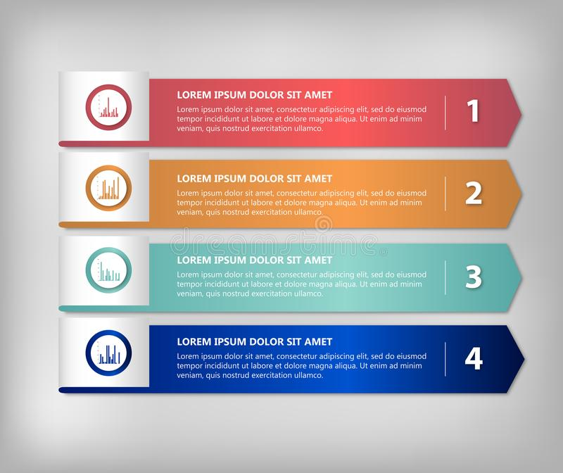 Arrow infographic template. Business graphic. Steps. Vector background royalty free illustration