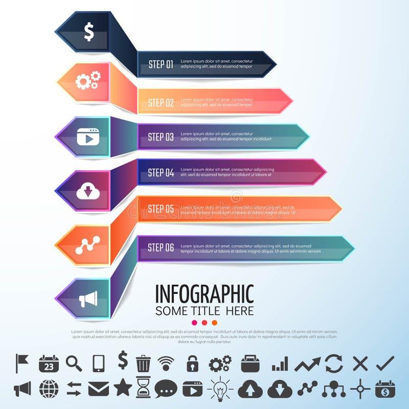 Arrow Infographics Design Template. Vector Illustration royalty free illustration