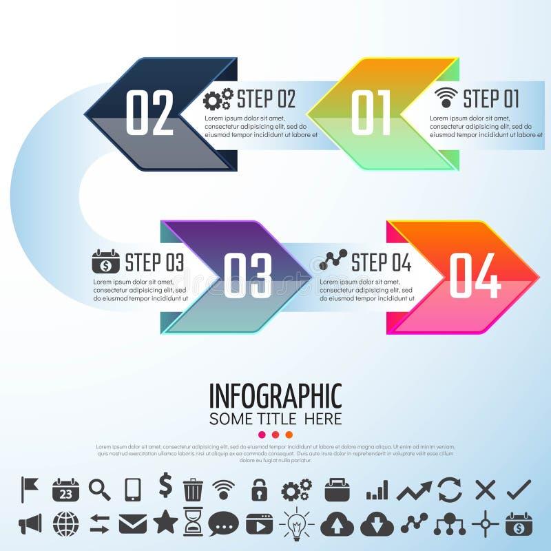 Arrow Infographics Design Template. Vector Illustration stock illustration