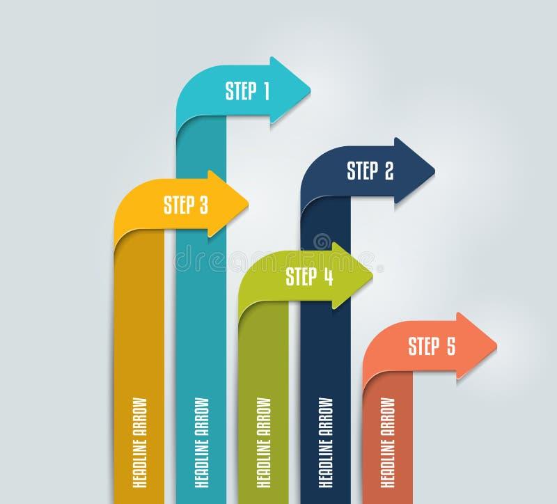 Arrow infographics scheme, chart, flowchrt, diagram, workflow. stock illustration