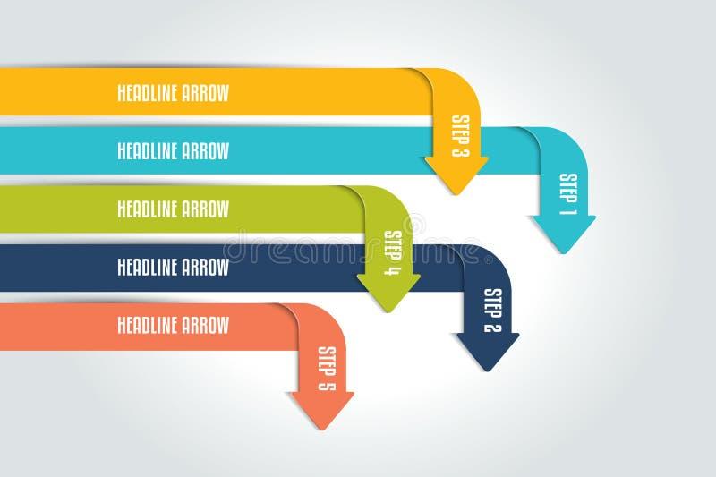 Arrow infographics scheme, chart, flowchrt, diagram, workflow. royalty free illustration