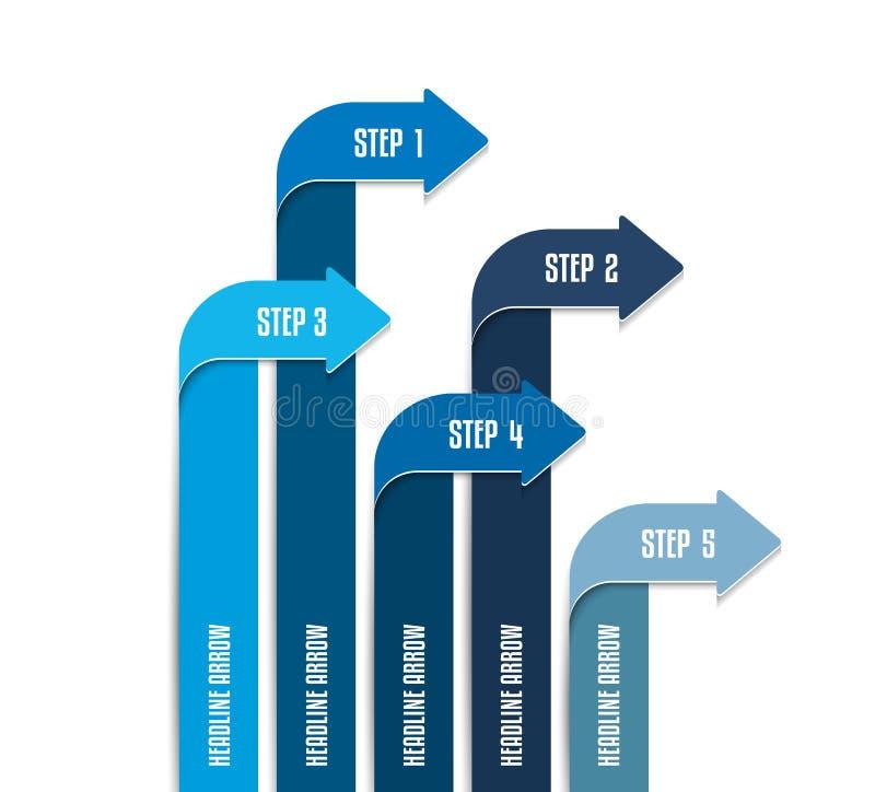 Arrow infographics scheme, chart, flowchrt, diagram, workflow. Arrow infographics scheme / chart / flowchrt / diagram / workflow. Vector royalty free illustration