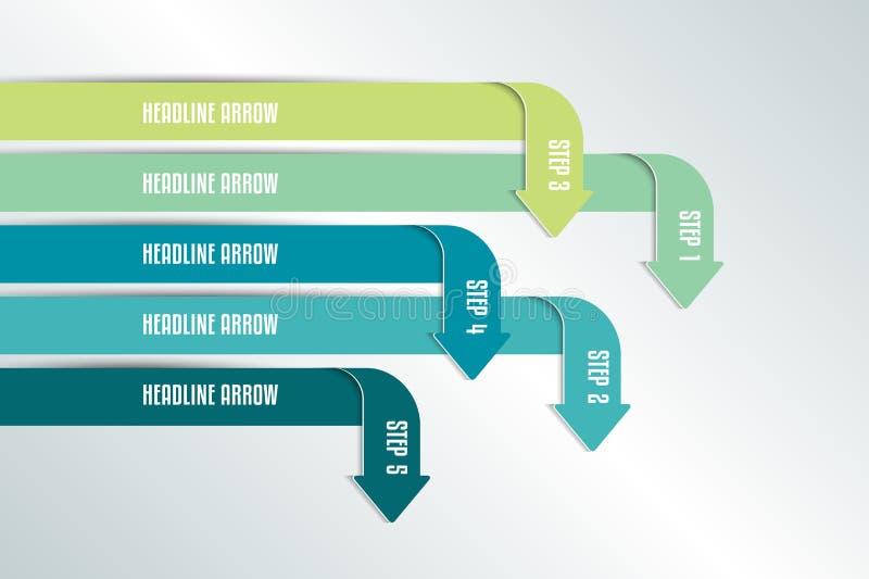 Arrow infographics scheme, chart, flowchrt, diagram, workflow. vector illustration