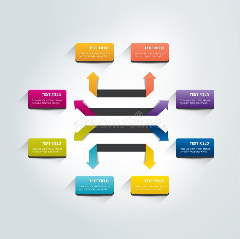 Arrow infographics scheme. royalty free illustration
