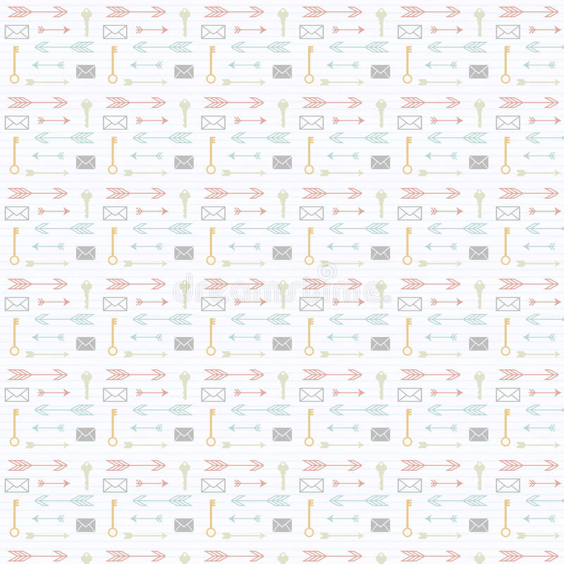 Download Arrow Key And Envelope Repeat Pattern Stock Illustration - Illustration of seamless, green: 30399872